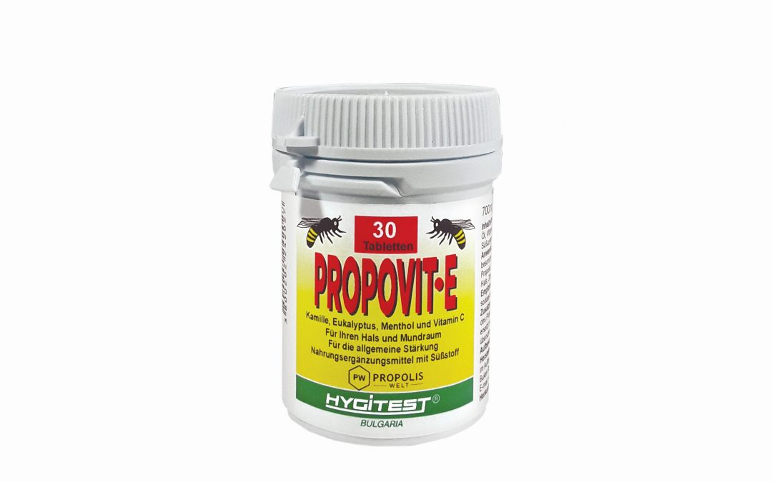 Propolis Lutschtabletten PROPOVIT-E mit Eukalyptus und Menthol 30 Stck.